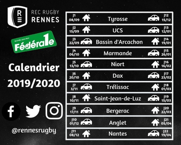 Calendrier Montees Historiques 2019.Rennes Rugby Assemblee Generale Rec Rugby Rennes 2019